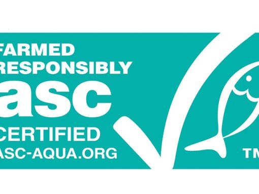 Farmed responsibly ASC Logo Pangasius