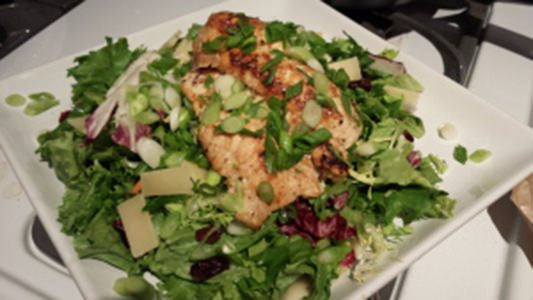 Whole pangasius salad