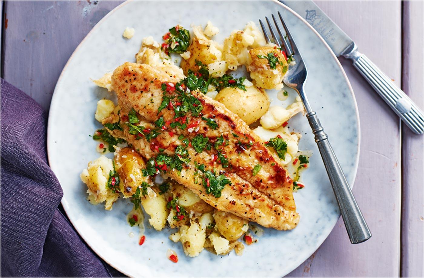 Pan Fried Panga Fillets With Garlic Potatoes Your