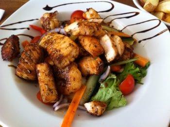 Panga and shrimp Canjun style, delicious dish