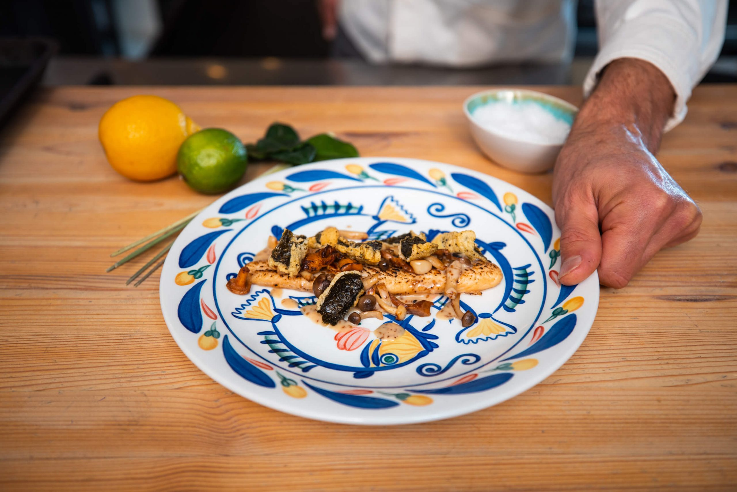 Pangasius Asian milk marinade and mushrooms – Your everyday fish